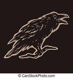 叫ぶこと, crows., 黒
