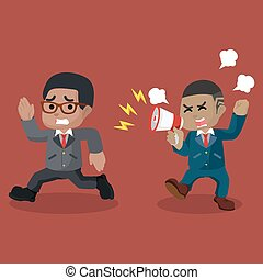 叫ぶ, 怒る, 上司, 動くこと, アフリカ, 従業員