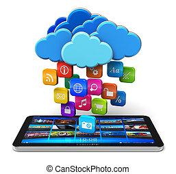 可動性, 雲, 概念, 計算