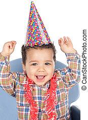 可愛, 嬰孩, 慶祝, the, 生日