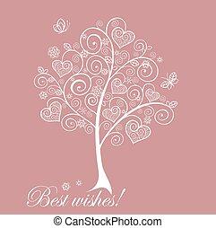 可愛, 樹