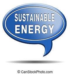 可持續, 能量