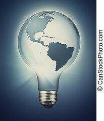 可持续发展, 同时,, 可更新, 力量, 概念