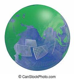 可更新的能量, 地球全球