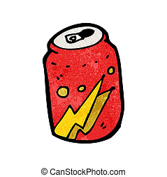 可樂, 卡通, 罐頭