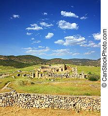 台なし, トルコ, 古代, 円形劇場, pamukkale