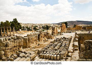 台なし, 古代, ヨルダン, jerash