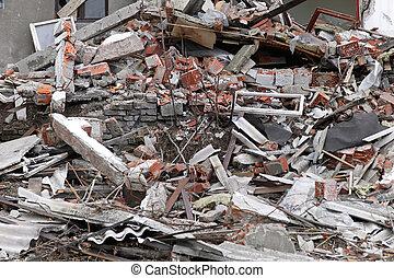 台なし, 地震