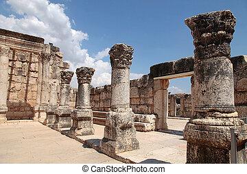 台なし, synagogue, 古代, capernaum, israel.