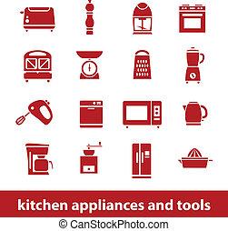 台所器具, そして, 道具, アイコン