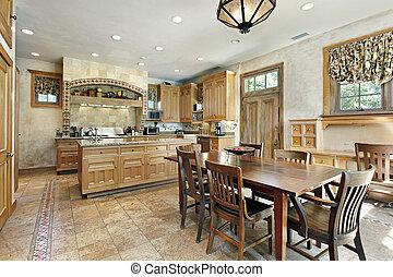 台所, 中に, ぜいたくな家