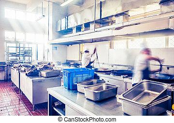 台所, 中国のレストラン