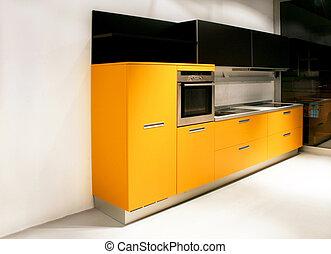 台所, 黄色, 角度