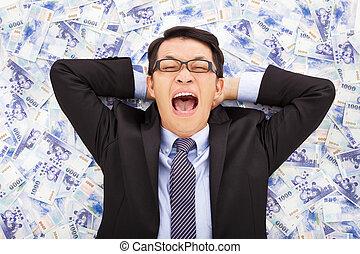 台湾, あること, ドル, 新しい男, 幸せ, ビジネス, 山