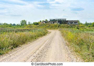 台無しにされる, 捨てられた建物, フィールド, 古い, 埋立て地, 破壊された