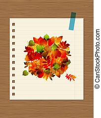 叶子, 你, 花束, 设计, 秋季