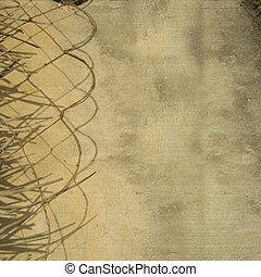 叶子, 墙壁, 绳索, 背景, grunge, 划分者