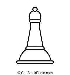 司教, チェス, 隔離された, アイコン