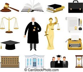 司法権, 漫画, 要素, 法律