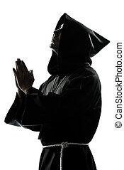 司祭, 祈ること, シルエット, 修道士, 人