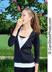 吃一個蘋果