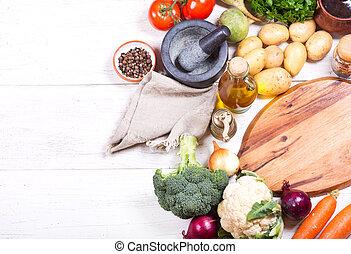 各種各樣, 烹調, 產品, 板, 空