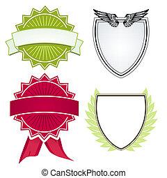 各種各樣, 盾, 以及, 鳥冠
