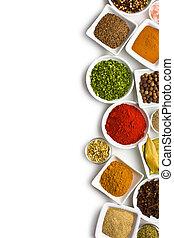 各種各樣, 香料, 以及, herbs.