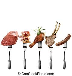 各種組み合わせ, 肉