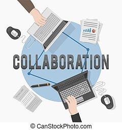 合作, 插圖, illustr