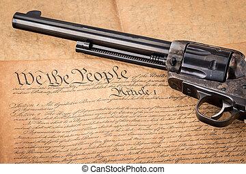合併した, 古い, 憲法, リボルバー, 州, classis