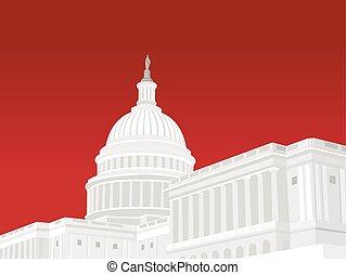 合併した, 国会議事堂, 州, 建物