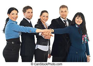 合併した, 実業家のグループ