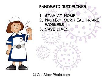 合併した, 指針, 王国, pandemic
