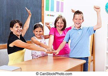 合併した, 生徒, そして, 教師