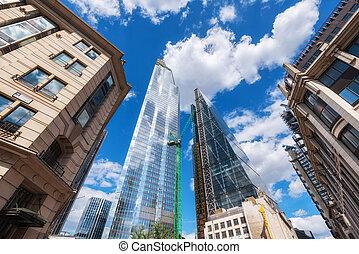合併した, 財政, 超高層ビル, district., 王国, ロンドン