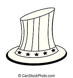 合併した, sam, 隔離された, 州, 叔父, 愛国心が強い, 黒, 白い帽子