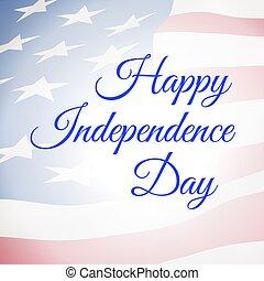 合併した, usa-, ポスター, 州, 旗, アメリカ, 日, 独立, 幸せ