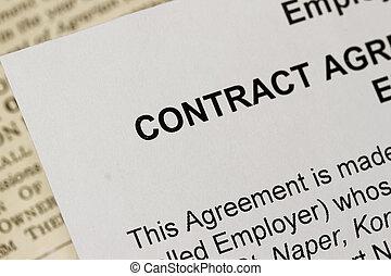 合同, 就业