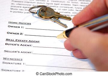 合同, ......的, 家, 銷售