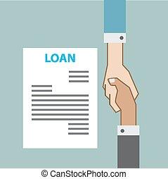 合意, ビジネス, ローン, の上, 銀行業, 協力, 手, 終わり, 平面図