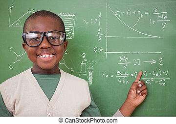 合成の イメージ, の, かわいい, 生徒, 指すこと