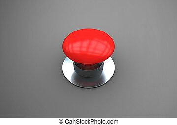 合成の イメージ, の, ディジタル方式で生成された, 赤, 押しボタン