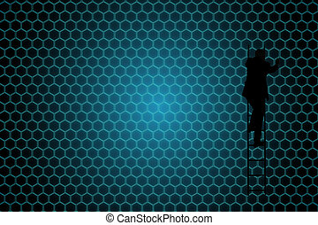 合成の イメージ, の, 黒い背景