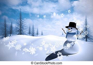 合成的影像, 雪人