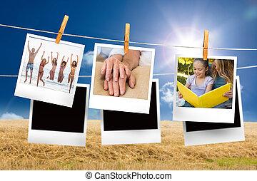 合成, 写真, h, 瞬間, イメージ