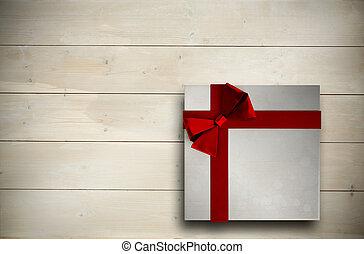 合成, 弓, クリスマス, イメージ, プレゼント