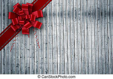合成, 弓, クリスマス, リボン, イメージ, 赤