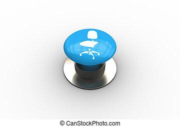 合成, 旋回装置, グラフィック, 椅子, ボタン, イメージ