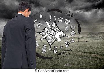 合成, 背景, 嵐である, ビジネス, グラフィック, イメージ